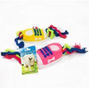 Резиновая игрушка с пищалкой и канатом для собак, 10 см