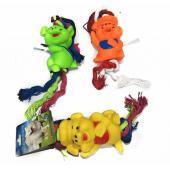 Резиновая игрушка с канатом для собак, 10 см