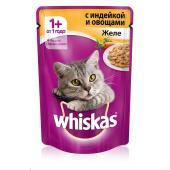 Whiskas желе с индейкой, 85 г