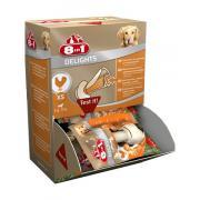 8в1 Делайтс жевательные кости с куриным мясом внутри для собак от 2 до 12 кг, 1 шт.