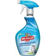 Mr.Fresh Expert 3 в 1 Ликвидатор пятен и запаха для кошек, 500 мл