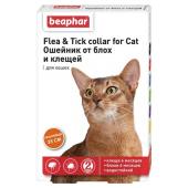 Beaphar Flea & Tick ошейник от блох и клещей для кошек, оранжевый, 35 см, 1 шт