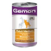 Gemon Adult Medium Chicken & Turkey Gemon полнорационный корм с кусочками курицей и индейкой, для взрослых собак средних пород, высокого премиального класса 1250 гр