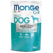 Monge Grill Adult Rich in Cod Fish полнорационный корм для взрослых собак, с запеченными кусочками трески, супер премиум качества 100 гр