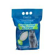 """Наполнитель силикагелевый """"Чистый котик"""" жемчужно-образные гранулы Премиум, 3,5 л"""