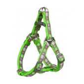 Trixie One Touch Blooms шлейка для собак карликовых и мелких пород, размер XXS–XS 25–35 см/10 мм, зелёный