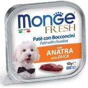 Monge Fresh нежные кусочки в паштете с уткой для собак, супер премиум качества 100 гр
