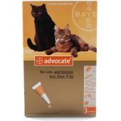 Advocate для хорьков и котов массой до 4 кг эндоектоцид спот-он применения 1 пипетка 0,4 мл