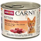 Carny Kitten консервы с телятиной и курицей для котят