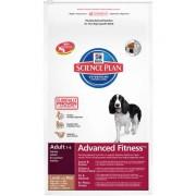 Hill's Science Plan Adult Advanced Fitness Lamb & Rice для взрослых собак с ягненком и рисом 9267M (целый мешок 12 кг)