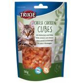 Trixie Cheese Chicken Cubes лакомство для кошек сырные кубики с курицей