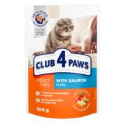 Club 4 paws с лососем в желе