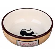 Trixie керамическая миска для кошек и собак мелких пород, 0,35 л/ 13 см