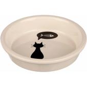 """Trixie керамическая миска для кошек """"Черный кот"""", размер,  см 0,25 л /  13 см"""