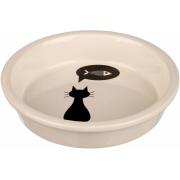 Trixie керамическая миска для кошек и собак мелких пород, 0,25 л/ 13 см