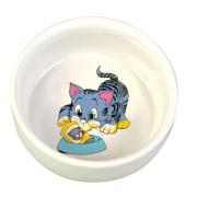 Trixie керамическая миска для кошек и собак мелких пород, 0,3 л/ 11 см