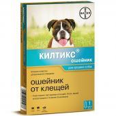 Kiltix ошейник против клещей и блох для средних собак