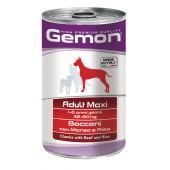 Gemon Adult Maxi Beef & Rice полнорационный корм с кусочками говядины с рисом, для взрослых собак крупных пород, высокого премиального класса 1250 гр