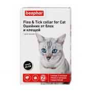 Beaphar Flea & Tick ошейник от блох и клещей для кошек, черный, 35 см, 1 шт