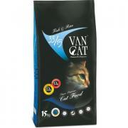 Van Cat сухой корм для кошек, рыба с рисом (целый мешок 15 кг)
