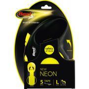 Поводок-рулетка Flexi New Neon L 5 м. 50 кг-мах.