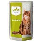 Lapka влажный корм для кошек с кроликом