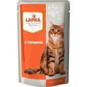 Lapka влажный корм для кошек с говядиной