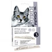 Burdi Fipro капли для кошек от блох и клещей, 1 пипетка