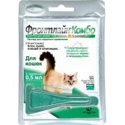 Фронтлайн пипетки для кошек от блох, власоедов и клещей 0.5 мл