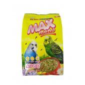 Kiki Max Menu полнорационный корм для волнистых попугаев, 500гр