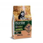Monge Adult all Breeds Natural Super Premium Salmon with Peas, полноценный рацион для взрослых собак всех пород, с лососем и горохом, супер премиум качества (целый мешок 12 кг)