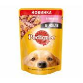 Pedigree для взрослых собак всех пород с ягненком в желе, 85 г