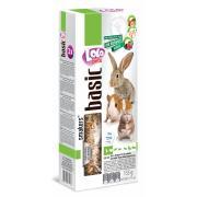 Lolo pets Smakers 3 в 1 с лесными ягодами, попкорном и орехами для грызунов и кроликов, 3 шт., 135 г