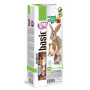 Lolo pets Smakers 3 в 1 с фруктами, овощами и плодами рожкового дерева для грызунов и кроликов, 3 шт., 135 г