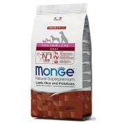 Monge Extra Small Adult Supetoremium Lamb, Rice & Patatoes сбалансированный сухой корм для взрослых собак мелких пород, с ягненком, рисом и картофелем, супер премиум качества, 800 г
