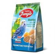Happy Jungle сухой корм для волнистых попугаев с фруктами и медом, 500 г