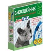 Доктор ZOO биоошейник против блох и клещей для кошек и мелких собак: цвет голубой, 35 см