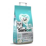 Sanicat Clumping White Cotton Fresh белый комкующийся наполнитель с запахом свежего хлопка, 10 л