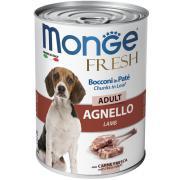 Monge Fresh Dog паштет для взрослых собак с мясом ягненка, 400 г