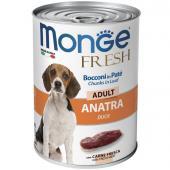Monge Fresh Dog паштет для взрослых собак с мясом утки, 400 г