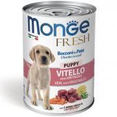 Monge Fresh Dog паштет для щенков говядина с овощами, 400 г