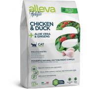 Alleva Holistic Cat Adult Chicken & Duck сухой корм для взрослых кошек с курицей и уткой, алое вера и женьшенем, 1,5 кг