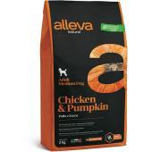 Alleva Natural Puppy Chicken & Pumpkin Medium Dog сухой корм для щенков средних пород с курицей и тыквой, 2 кг