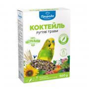 """Коктейль """"Луговые травы + семена льна"""" корм для волнистых попугаев премиум-класса, 500 г"""