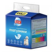 Cliny подгузники для собак и кошек 1-2,5 кг размер XXS (12 шт.)