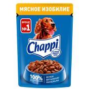 Chappi для взрослых собак всех пород мясное изобилие, 85 г