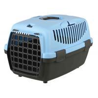 Trixie переноска для кошек и собак мелких пород, серая/голубая, 32×31×48 см