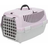 Trixie переноска для кошек и собак мелких пород, светло серая/светло сиреневая, 32×31×48 см