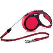 Flexi Red Classic L Cord 5 m 12 ременной поводок-рулетка длиной 5 м для собак весом до 50 кг (красный)