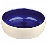 Trixie керамическая миска для кошек и собак, 12 х 4,5 см, объем воды 300 мл, белая